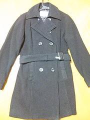 新品クリーニング済みハニーズ黒ロングコートLLジャケット。