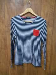 □バーバリーブラックレーベル ボーダー 長袖 Tシャツ/メンズ/2