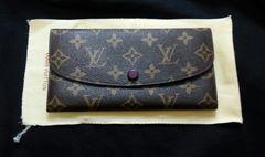 新品ルイヴィトンモノグラム紫二つ折りウォレット財布ノベルティ