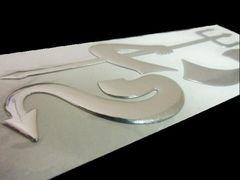 立体3Dエンブレムステッカー/悪魔シール 銀/送料無料