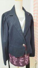 新品(^-^)大きいサイズ19号リボン付ジャケットブラック系