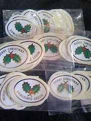 クリスマス包装用100枚金箔押し風デザイン