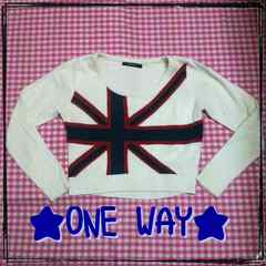 ONE WAY♪国旗♪カットソー☆☆