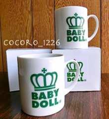 新品BABYDOLL☆ノベルティ 王冠 マグカップ2個 陶器 ベビードール