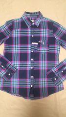 ホリスター ネイビー×ピンク×イエロー×ブルー チェックシャツ