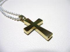 仁尾彫金『フラットゴールドクロス』ハンドメイド90