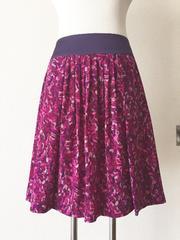 [UNTITLED]★後ろリボン・[紫色]膝丈スカート・サイズ[2]★