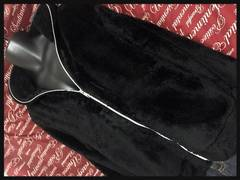 3L・フルZIPボアジャケット新品黒/MC‐611
