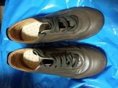HOGAN カーキ スニーカー レザーシューズ 革靴 紐靴 M 23、5 36