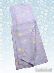【和の志】洗える着物◇袷Mサイズ◇ラベンダー系・花柄310