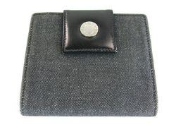 良好ブルガリ ロゴマニア 二つ折り財布 黒