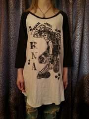 即決RNAモッシュスカルラグランシャツ!パンクロックキャンスパx-girlマルコマルカ