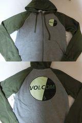 USA購入ボルコム【Volcom】裏起毛タイプ フルジップパーカーUS S