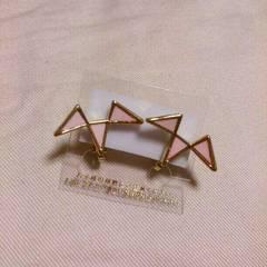 ピンク三角モチーフイヤリング*新品未使用