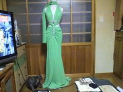 CINDERELLAキャバ グリーン セクシーロング高級ドレス
