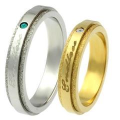 指輪2本感謝を刻むエンドレスペアリングシルバーゴールド