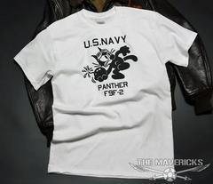 米海軍フェリックスパンサーTシャツ・白黒L・新品/ミリタリー