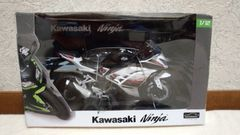 アオシマ完成品バイクシリーズ Kawasaki Ninja250 ホワイト SE