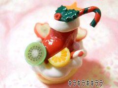 クリスマスケーキ<樹脂粘土>フルーツ&靴下ver限定
