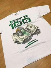 LA直輸入  keep100 デザインプリントTシャツサイズ3XL白XXXL