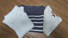 使えるセーター3枚☆新品美品WEGOディスコートgu