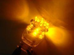 激照!T20型24連LEDシングルウェッジバルブ オレンジ