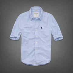 【Abercrombie&Fitch】Vintage Washed オックスフォードシャツ L/Blue