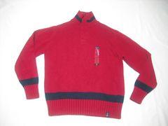 33 男 NAUTICA ノーティカ 赤 セーター M