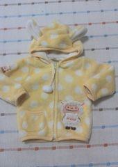 サニーシープ♪黄色ドットもこもこジャケット♪90�p