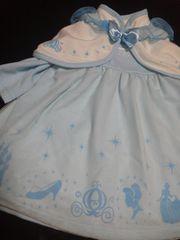 新品シンデレラドレス水色素敵なボレロつき90サイズ