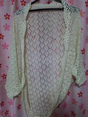 カギ編みドルマンカーディガン フリーサイズ