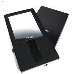 正規新品未使用シャネル手鏡ノベルティハンドミラー鏡CHANELブラック黒