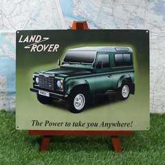 ★新品★【ブリキ看板】Land Rover /ランドローバー Defender