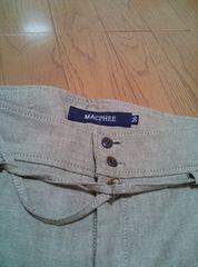 MACPHEE ベージュ系 麻混パンツ size36