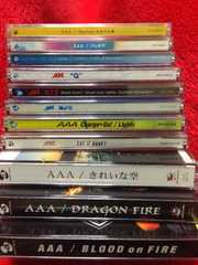 AAA 初回限定盤DVD付きシングルまとめ売り 夏ものQハレルヤ等