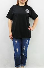 1008-412068大きいサイズ☆ハローキティコラボTシャツ☆LL/ブラック