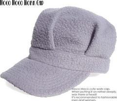 新品♪モコモコ ワークキャップ*グレー*帽子*