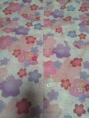 ☆新品=白×桜和柄ダボシャツ120