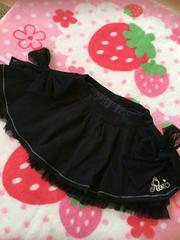美品☆Roni☆リボン☆スカート☆黒☆SM