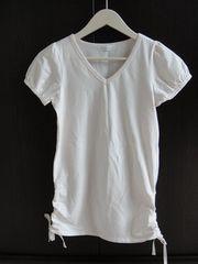 未使用品★Feroux/フェルゥ ピンク Tシャツ 半袖 フェルー 紐付き調整可能
