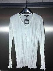 5351プールオム/シワ加工長袖カットソーTシャツ/白2