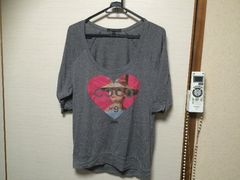 HOLLYWOOD MADE☆五分袖プリントTシャツ