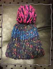 カラフルぼんぼんニット帽*。オシャレに防寒♪
