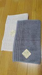 新品 手摘み 新彊綿使用フェイスタオル  2枚セット 綿100%