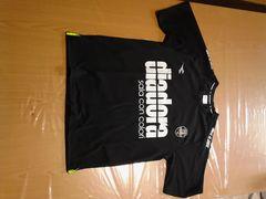 スポーツティーシャツ(*^-^*)diadora黒ティーシャツ