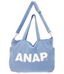 新品ANAP☆2WAY ロゴ ショルダーバッグ デニム アナップ