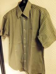 日本アパレル 半袖ストライプシャツ 美品