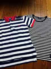 コムサ&ラルフローレン ボーダー ポロシャツ Tシャツ 130