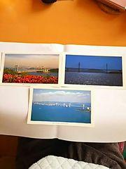 ポストカード 瀬戸大橋 岩黒島橋 3枚セット 初夏 夜景 パノラマ