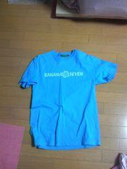 新品バナナセブンビーチサウンド半袖Tシャツ水色スカイブルーボディグローブ・送0